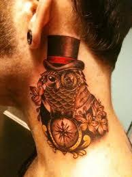 tribal owl tattoo 65 wonderful owl neck tattoos
