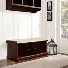Crosley Sideboard Brennan Mahogany Entryway Storage Bench Crosley Furniture Storage