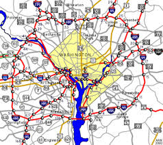 maryland map capital interstate guide interstate 495 maryland virginia
