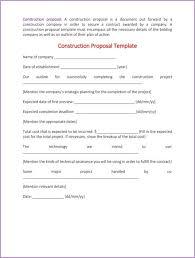 bid proposal template bid proposal template 6 best proposal