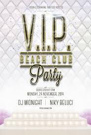 free psd vip beach club flyer template on behance