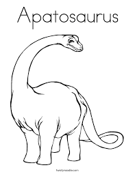 apatosaurus coloring twisty noodle