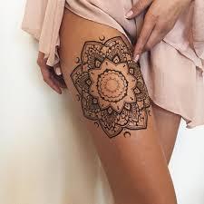 female thigh tattoos 36 perfect mehndi tattoo designs by veronica krasovska mandala