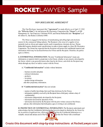 Non Disclosure Statement Template by Confidentiality Agreement Non Disclosure Agreement Nda