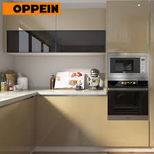 how high are kitchen cabinets oppein modern open plan high gloss beige kitchen cabinets with island