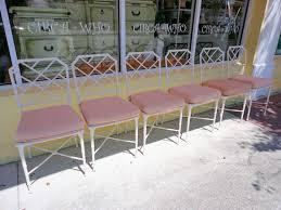 Vintage Brown Jordan Outdoor Furniture by 6 Brown Jordan Calcutta Side Chairs Circa Who