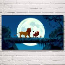the lion king movie art silk fabric poster prints home wall decor
