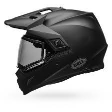 matte black motocross helmet bell helmets matte black mx 9 adventure snow helmet w dual lens