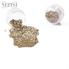 How To Care For Hair Extensions With Micro Rings by Amazon Com Neitsi Nano Rings Beads For Nano Tip Remy Hair
