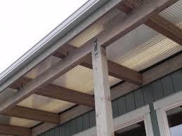 Patio Covers Seattle Beachfront Patio Cover Over Cedar Wood Frame Beach Style Deck