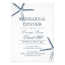 Rehearsal Dinner Invites Starfish Invitations U0026 Announcements Zazzle