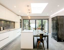 Kitchen Glass Backsplash by Kitchen Black Trim Windows Contemporary Extension Exposed Lights