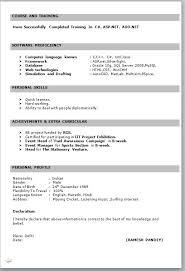 Sample Format Of Resume For Teachers Word Format Resume Resume Templates
