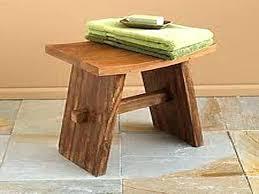 divine teak asian stool design bathroom bench for safety usage