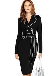long sleeve pencil dress with belt black dress pants