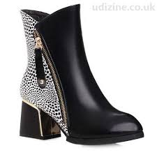 s zip ankle boots uk stylish s ankle boots with zipper leopard print black