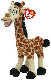 amazon com ty beanie baby madagascar melman giraffe toys u0026 games