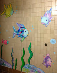 Shower Curtains With Fish Theme Bathroom Decor Ideas On Pinterest Under The Sea Life Theme Shower