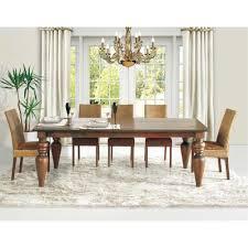 artefama tower dining table artefama furniture flower 94 in cinnamon dining table 5844 0001