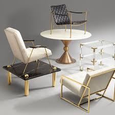 Accent Coffee Table Jacques Two Tier Acrylic And Brass Side Table Modern Furniture