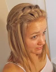 nice hairstyle for medium length hair waterfall braid for medium