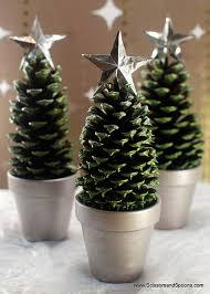 pine cone trees scissors and spoons