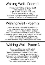 wedding wishes rhyme wishing well cards to add to wedding invitations wedding