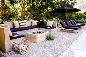 Concrete Firepit Outdoor Concrete Sofa Deck Patio Designs
