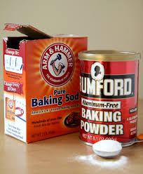 baking soda baking powder and yeast blowing bubbles in the