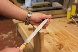 how to use a rasp to shape wood