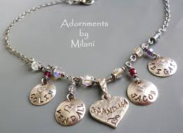 grandkids necklace artfire markets