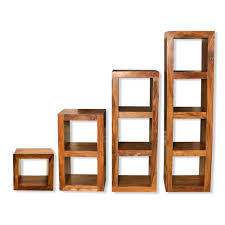 Bookcase Storage Units Tier Wooden Bookcase Shelving Display Storage Wood Shelves Unit