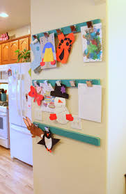ideas for displaying pictures on walls thanks pinterest for the inspiration for my kids art display wall