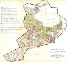 Massachusetts Map Surficial Geology Map Of Quincy Massachusetts 1964 Exhibits
