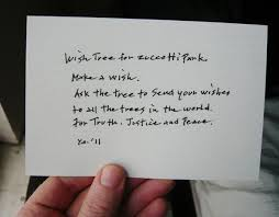 Wishing Tree Cards Yoko Ono And Occupy Wall Street Collaborate On A Wish Tree Project