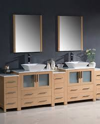Bathroom Vanity With Side Cabinet Fresca Torino 96 Light Oak Modern Sink Bathroom Vanity W