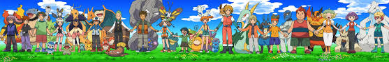 ash along with most of his companions and rivals pokemon