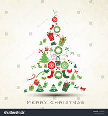 beautiful tree merry celebration stock vector