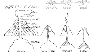 coloring pages volcano printable volcano coloring pages many interesting free of general