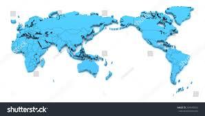map world asia blue world map asia center 3d stock illustration 269010824