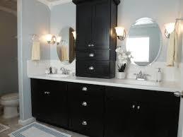 Sconce Bathroom Lighting Vanity Shelves Bathroom Brown Wooden Sink Cabinet With Gray Top