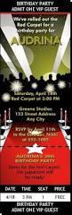 red carpet birthday party invitation awards show party invitation