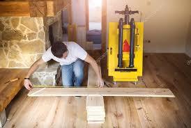 measuring wood flooring stock photo halfpoint 58184627