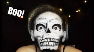 halloween make up skeleton halloween makeup skeleton candle cove inspired youtube