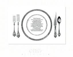 table manners for kids printable dining table manners basic dining etiquette table manners table