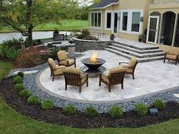 backyard stone patio designs nice backyard paver patio designs