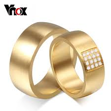 aliexpress buy vnox 2016 new wedding rings for women aliexpress buy vnox 8mm wedding rings for women men 316l