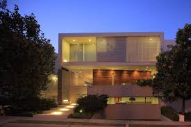 evening view of the house nature playing a key role in design
