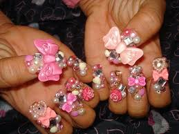 fashionable nail art ideas nail designs with 3d bows