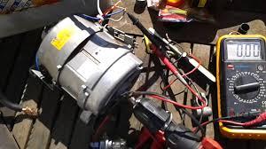 washing machine motor as a generator youtube